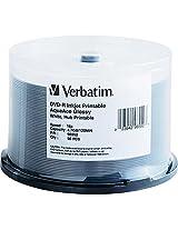 Verbatim Dvd-R 4.7Gb 16X Aquaace Glossy White Inkjet Printable, Hub Printable