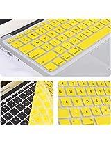 "2010kharido Silicone Compact Keyboard Skin Guard Cover Apple Macbook 13"" 15"" 17"" Air/Pro/New Pro Retina Yellow"