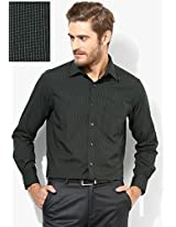 Black Checks Regular Fit Formal Shirt Peter England