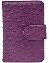 Upper Canada Soap Book Style Ostrich Pill Box, Purple