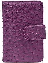Upper Canada Soap Book Style Ostrich Pill Box, Purple
