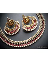 Beautiful Pink Ramleela Necklace and Earrings set