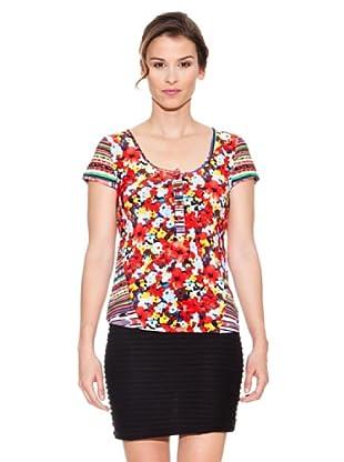 Mahal Camiseta Flores (Rojo)