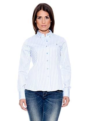 Caramelo Camisa Clásica (Azul Celeste)