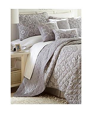 Luxury Home 6-Piece Reversible Saratoga Quilt Set