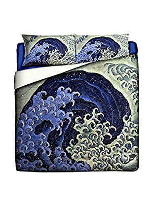 JAPAN MANIA by MANIFATTURE COTONIERE Steppdecke Katsushika Hokusai-Feminine Wave