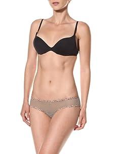 Cosabella Women's Celine Low Rise Hotpants (Pack of 2) (Vetiver/Leopard)