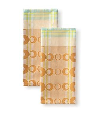 Garnier-Thiebaut Set of 2 Optique Guest Towels (Caramel)