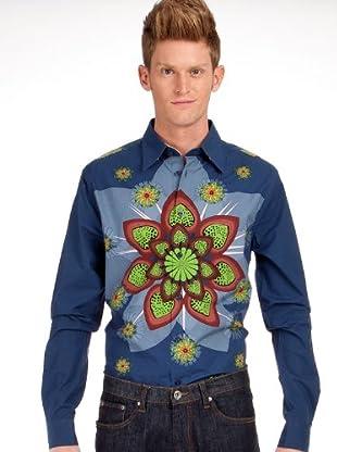 Custo Camisa Simon Ulimba (Azul Oscuro)