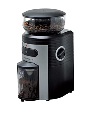 Espressione Professional Conical Burr Coffee Grinder (Black/Silver)