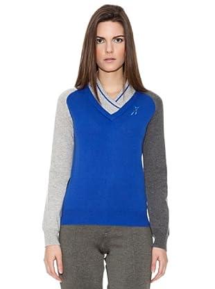 Look Jersey Double Vee (Azul Cobalto)