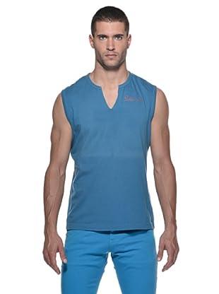 Datch Camiseta SM Cuello V Logo (Azul Royal)