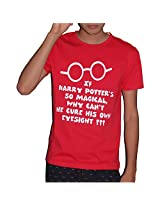 Molecules Men's Cotton T-Shirt -Red, (X-Large)