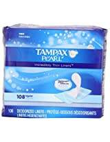 Tampax Pearl Incredibly Thin Liners, Regular, 108 Count