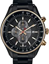 Timex E Class Chronograph Black Dial Men's Watch - T2N154