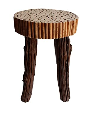Asian Art Imports Modern Bubble Stool, Natural