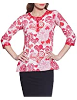 Cotton Printed Kurti Indian Casual Dresses For Women ,W-CPK46-1815,Size-46 Inch,PINK