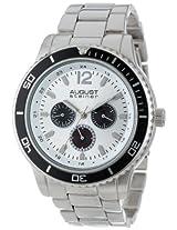 August Steiner Men's AS8059SS Quartz Multi-Function Divers Bracelet Watch