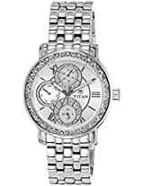 Titan Purple Analog Multi-Color Dial Women's Watch - NE9743SM01J