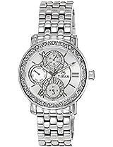 Titan Purple Analog Multi-Color Dial Women's Watch - NE9743SM01J