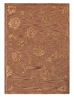 Light Floral Rug, Tan, 5' x 8'