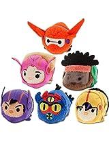 Disney - Big Hero 6 Tsum Tsum Mini Plush Collection - Set of 6 Action Team Figures