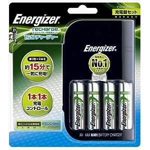 シック エナジャイザー 「単3形×2本を約15分で一気に充電」 15分チャージャー充電器セット CH15MN2
