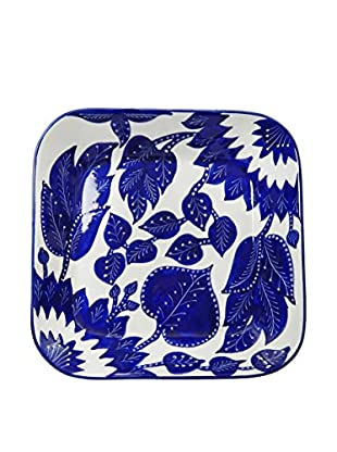 Le Souk Ceramique Jinane Square Serving Bowl, Blue/White