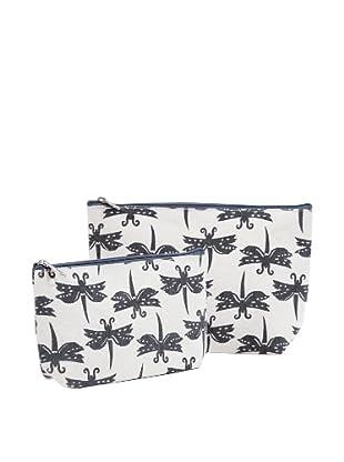 RockFlowerPaper Dragonfly Grey Zip Bags (Set of 2)