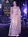Malaika Arora Khan Beige Net Lehenga Style Designer Saree