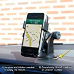 Gioiabazar Windshield One Touch Mount Stand Car Home Desk Cradle A/C Holder Suction for Mobile Phone Single