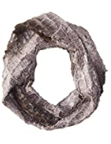 D&Y Women's Animal Print Faux Fur Infinity Scarf