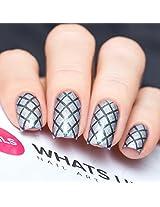 Diamond Pattern Stencils For Nails, Nail Stickers, Nail Art, Nail Vinyls Large (24 Stencils)