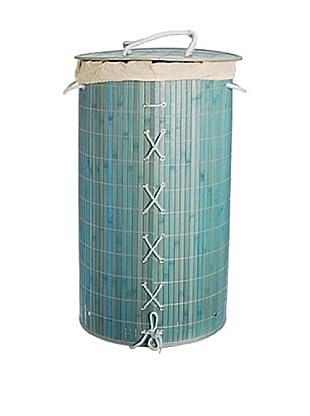 Cesto Portabiancheria Bambù Aquamarina 61X35 cm