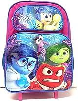 "Disney Inside Out Colorful Large 16"" Rolling/roller School Backpack"