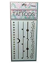 Beautiful Quality Temporary Tattoos ( 2 Sheets Included ) Celestial Design