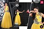 Beautiful Yellow Coloured Designer Gown