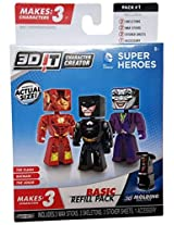 3D Character Creator DC Comics Basic Refill Pack Style 1 Stick Toy