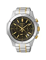 Seiko Chronograph Black Dial Men's Watch - SSB109P1