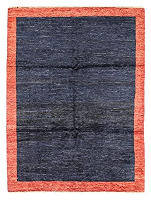 Bashian Rugs Hand Knotted One-of-a-Kind Pak Gabbeh Rug, Dark Blue, 5' x 6' 6