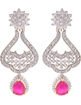 Ada Designer Jewellery Gold Silver Alloy Dangle & Drop Earrings for Women (ER-1)