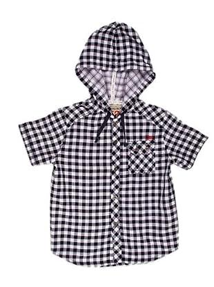 Naf Naf Chevignon Camisa Bolsillo (negro / blanco)