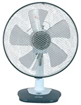 Optimus F-1212S 12-Inch Oscillating 3-Speed Table Fan with Soft-Touch Switch and LED