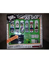 "2013 Tech Deck SK8 Shop Toy Skateboard ""Plan B"" 6 Boards W/sticky Trick Tape & Tool (T. Puds, Ladd, P. Rod, Mckay, Shecks, D. Way)"