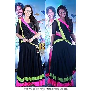 Bollywood Replica Sonakshi Sinha 60 Grm Georgette Lehenga In Black Colour NC514