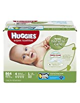 Huggies Natural Care Baby Wipes Hypoallergenic Fragrance Free (800 Sheets)