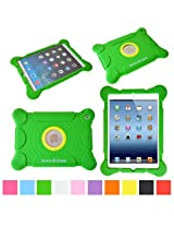suchAcase Reader Series Kids Friendly Baby Safe Heavy Duty Soft Protective Case for Apple iPad 2, 3 & 4 (Green)
