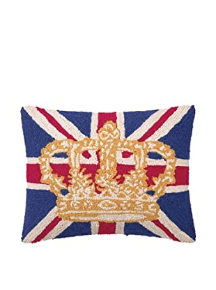 Peking Handicraft England Flag With Crown Hook Pillow