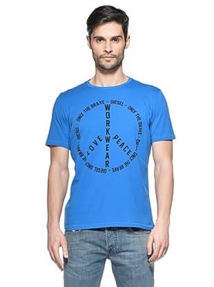 Diesel Camiseta T-Fritz-R (Azul Eléctrico)