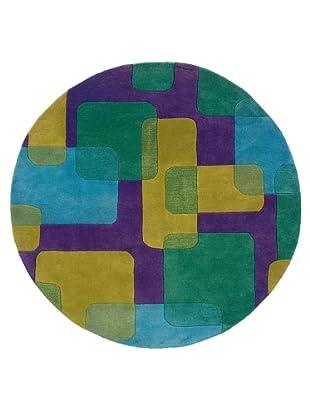 Trade-Am Vibrance Geometric Blend Round Rug